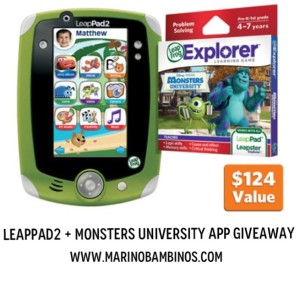 LeapFrog LeapPad2 Monsters University Giveaway