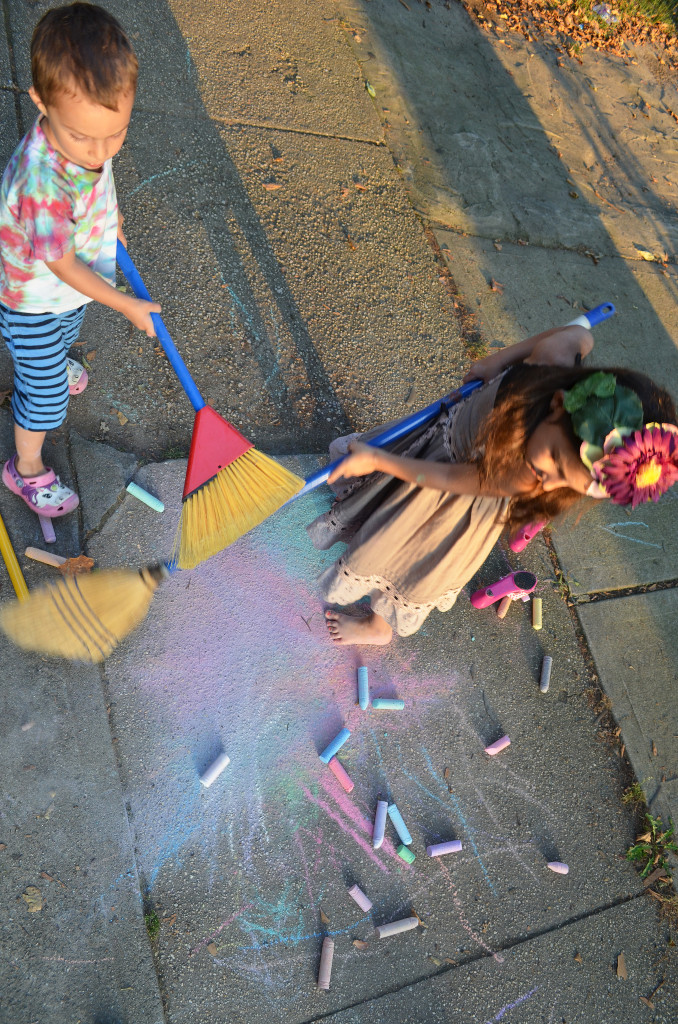 painting with chalk kids clothes week