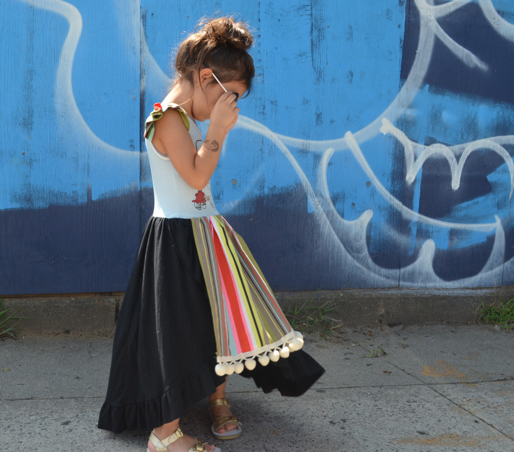 upcycled girls dress