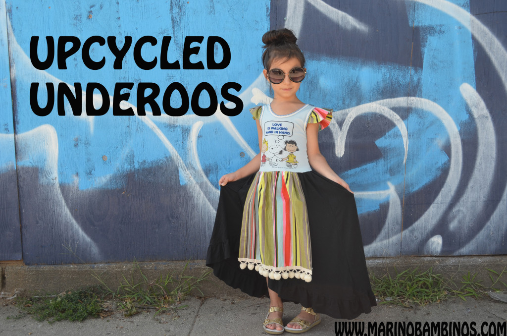 upcycled underoos girls dress marino bambinos sewing