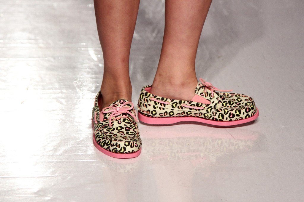These leopard print Sperry Top-Siders with contrasting pink outsoles and laces are a fun modern twist on a classic style.