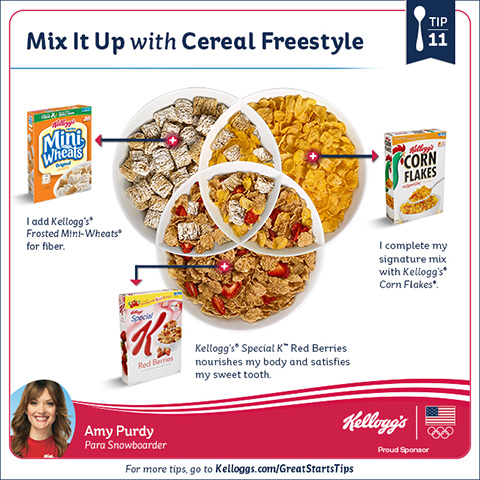 cereal mixing Team Kellogg's