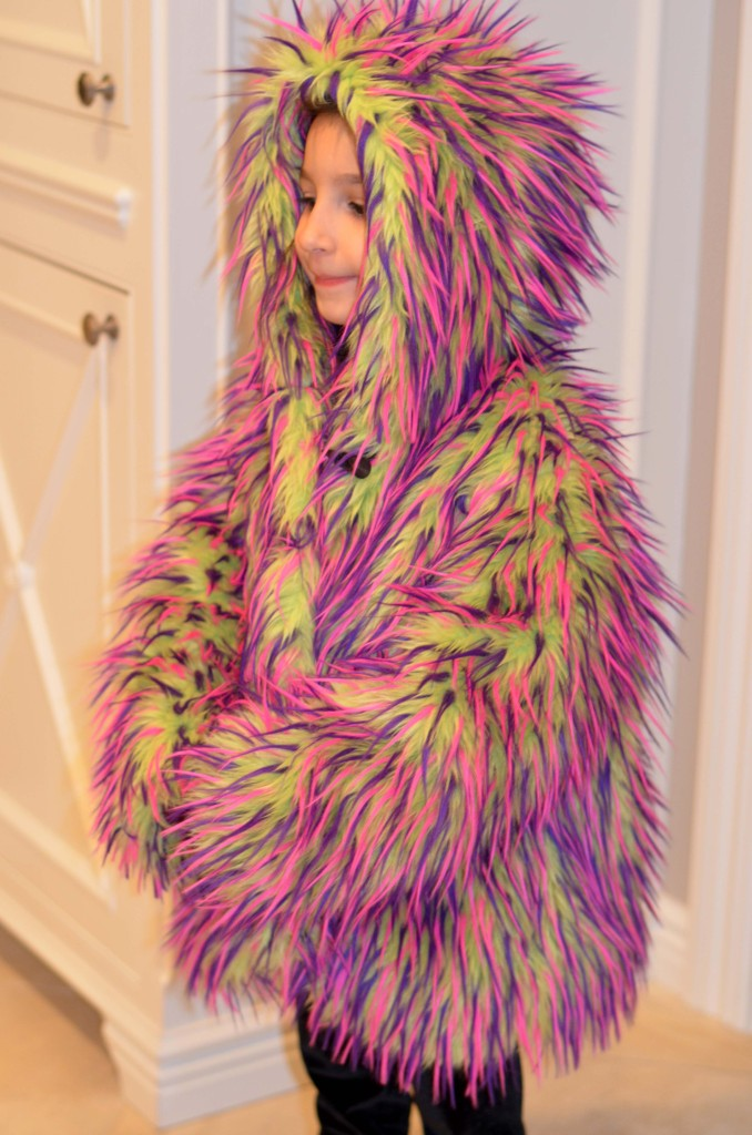 Kids Fur Coat, Monster Coat, Furry Kids Coat, Kids Fur Jacket, Monster Coat, Cool Kids Coat
