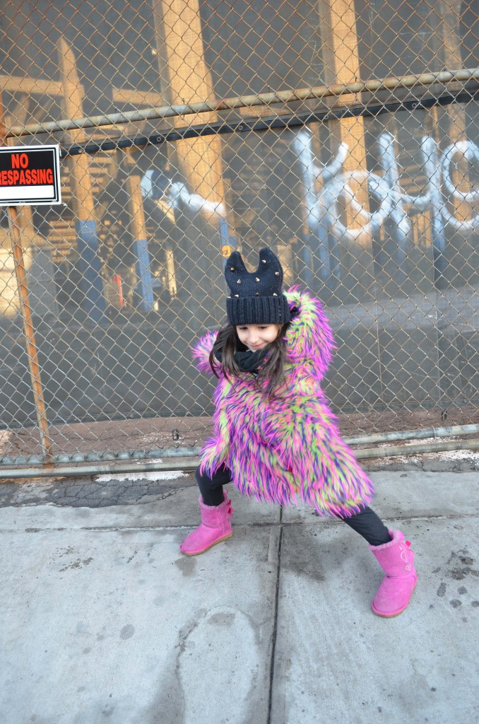 kids coat nyc, kids fur coat,