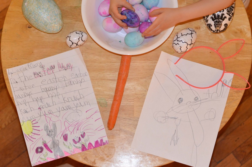 easter bunny note