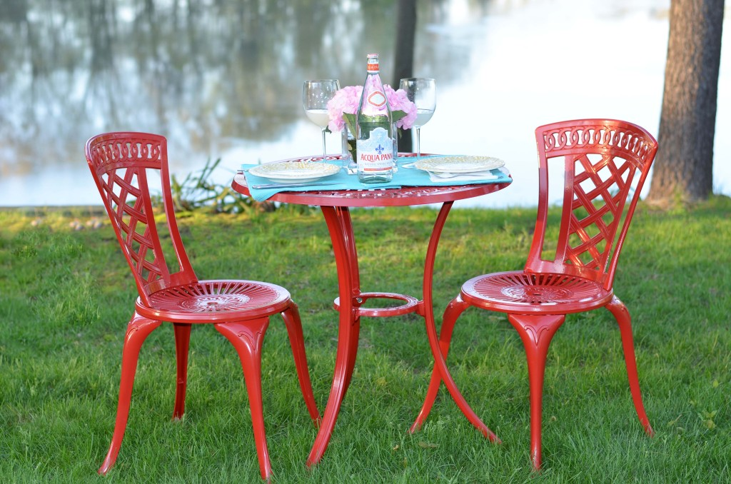 I Had The Set Shipped To Our Local Pier 1 Imports Store To Avoid Extra  Shipping Costs U2013 And I Plan On Adding Coordinating Outdoor Tableware Items  In The ...