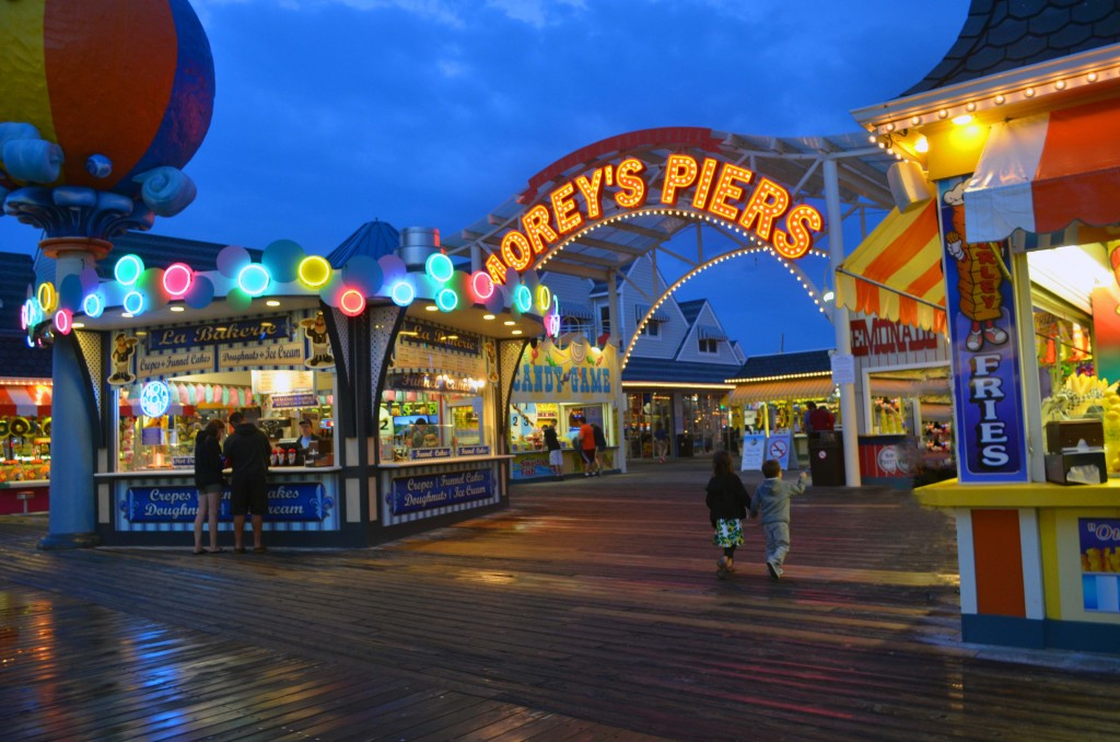 morey's piers at night