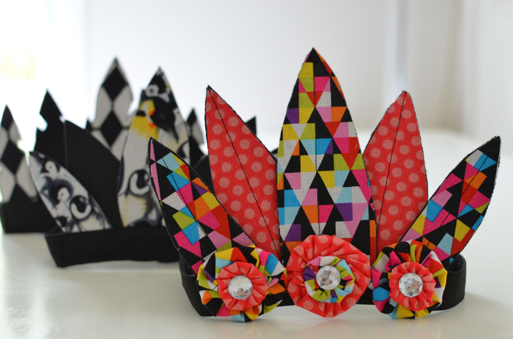 fabric feather crown tutorial
