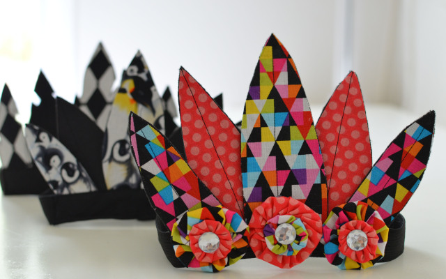 Fabric Feather Crowns {Tutorial}