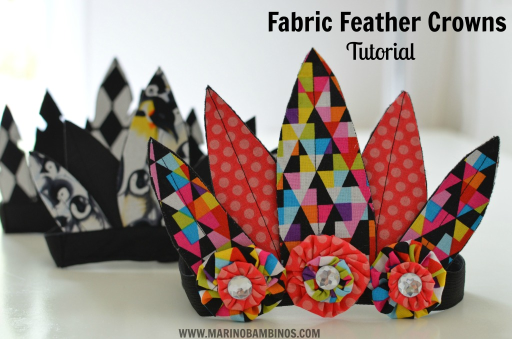 fabric feather crown tutorial DIY Sewing feather headbands