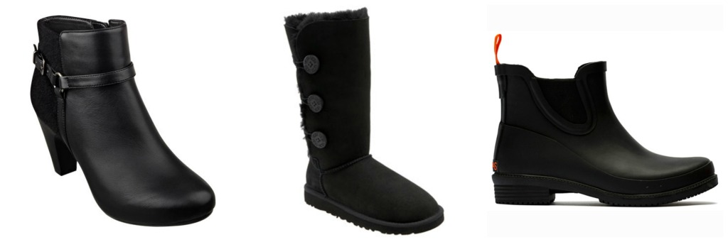 Black boots from Easey Spirit, Ugg Australia, Swims