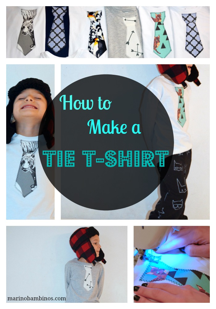 How to make a Tie T-shirt tutorial