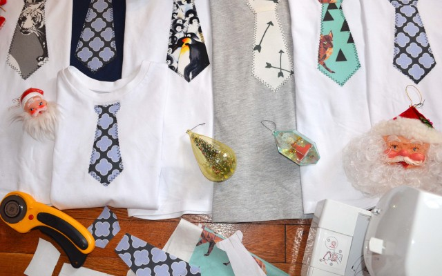 How To Make a Tie T-Shirt    Homemade Holiday