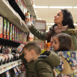 food bank donations with kids