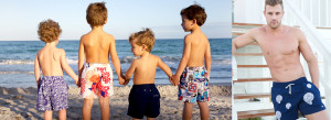 LeClub matching father and son swim shorts