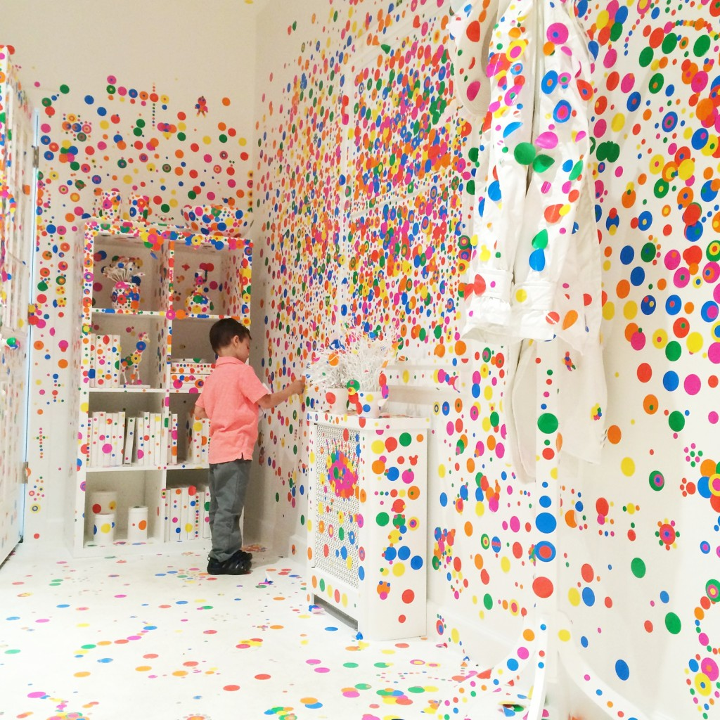 Obliteration Room exhibit NYCYayoi Kusama