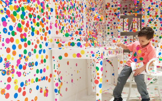 Yayoi Kusama's Obliteration Room at David Zwirner Gallery