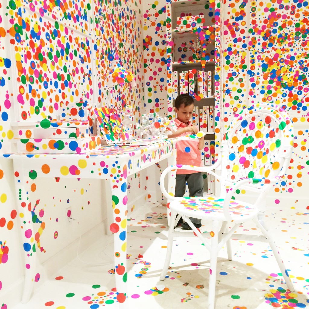 The Obliteration Room exhibit NYC  Yayoi Kusama