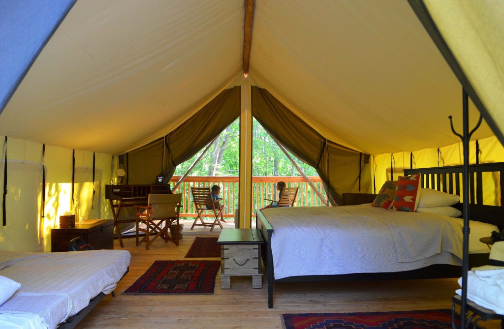 Firelight Camps Safari Tent King Bed Glamping Glamorous Camping