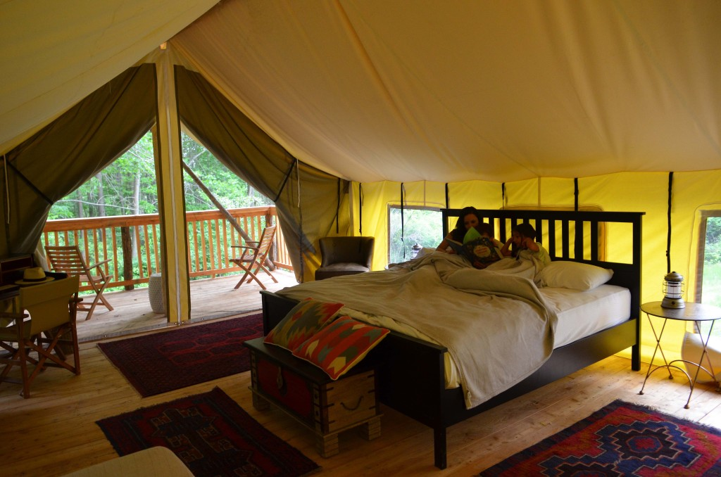 Glamping Safari Tent with King Bed Firelight Camps Ithaca
