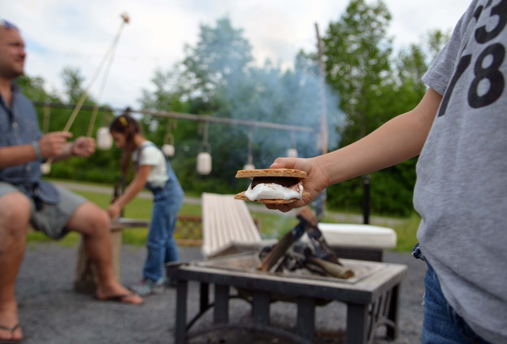 firelight camps glamping smores