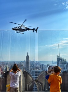 top of the rock with kids