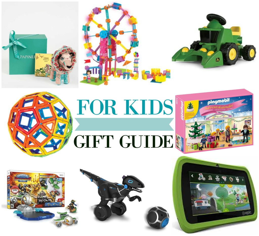 For Kids Holiday Gift Guide Papinee John Deer Roominate LeapFrog Epic Magformers Skylanders Playmobil Advent MiPosaur