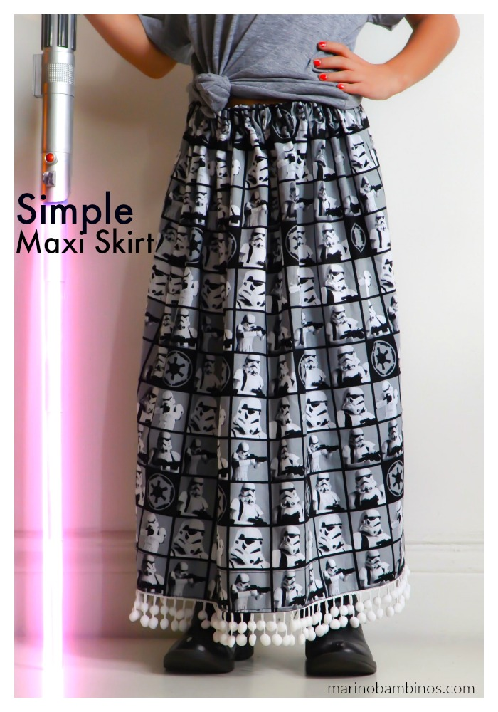 How to make a maxi skirt with pom pom fringe trim