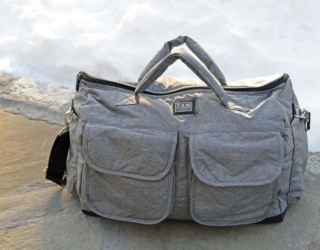 Big Diaper Bag with Pockets in Grey