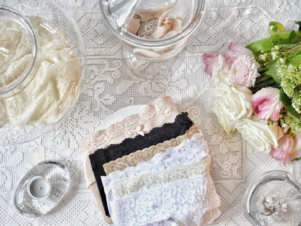 Lace Panties Lifestyle Image with Roses