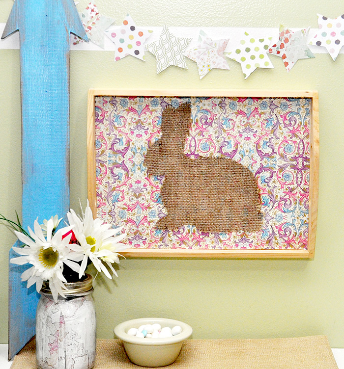 DIY-Easter-tray-burlap-bunny-decor