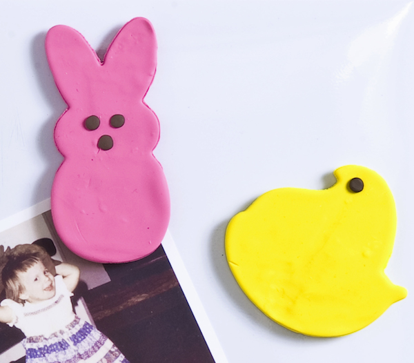 Make-Peeps-magnets-using-clay