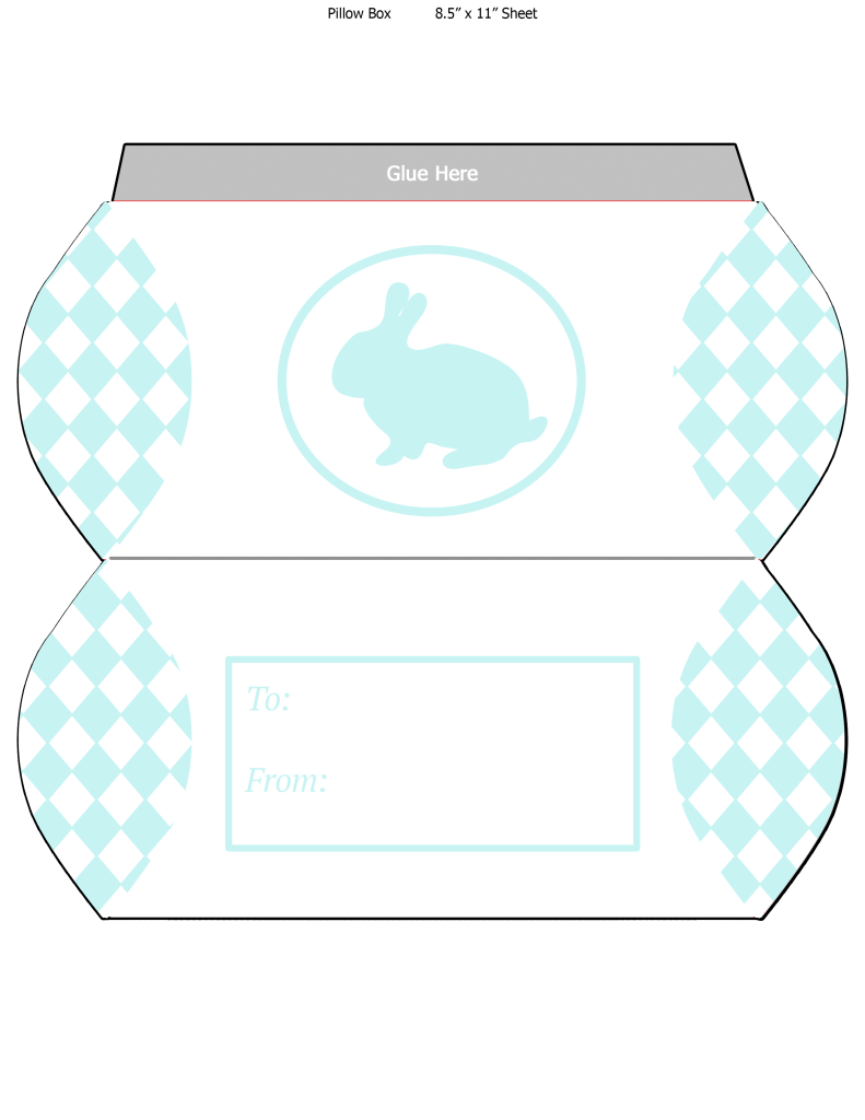 free printable easter bunny pillow box | marinobambinos