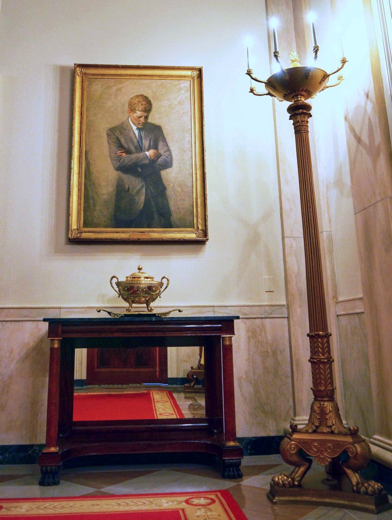 famous-John-F-Kennedy-Official-Portrait-White-House-JFK-Painting-Let's-Move-blogger-event