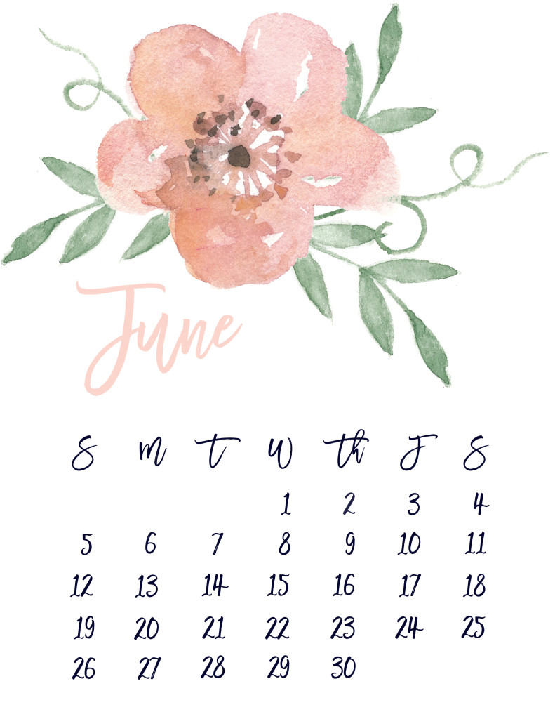 picture regarding Pretty Printable Calendar identify June 2016 No cost Lovely Printable Calendar MarinoBambinos