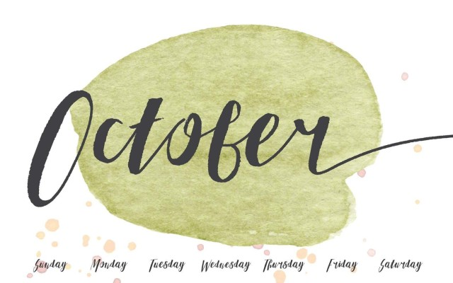 Welcome October with this Printable Calendar