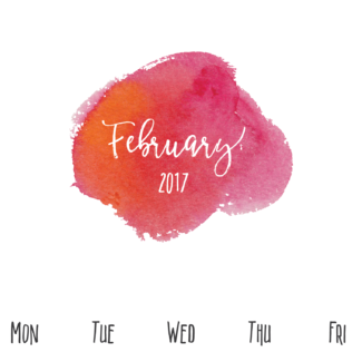 February-2017-free-pretty-printable-watercolor-calendar