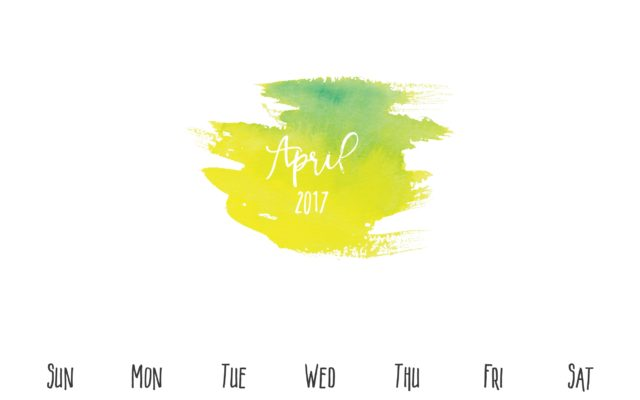 April Free Printable Calendar Sheet
