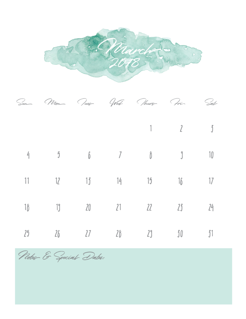 March-2018-free-pretty-printable-watercolor-calendar