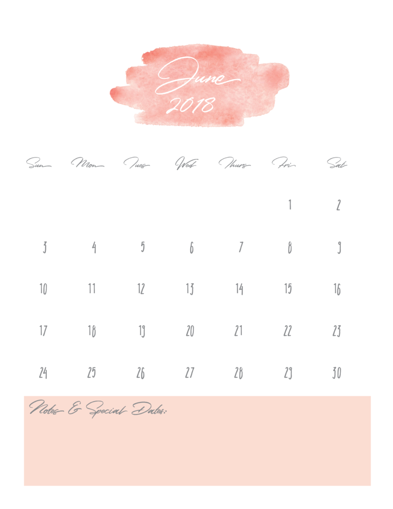 June-2018-Watercolor-Calendar-printable